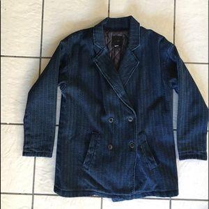 Women's Dark Denim Pea Coat